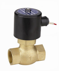 "Brass 2 Way Piston Hot Water Solenoid Valve Normally Closed 3/8"" ~ 2"""