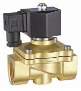 24VDC Brass Electric Water Solenoid Valve 2 Way Zero Differential Pressure